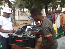 Uboreshaji wa Daftari la Kudumu la Wapiga Kura kwenye Kituo cha NBC Mtaa wa Butiama, Halmashauri ya Mji wa Bariadi, Mkoani Simiyu.
